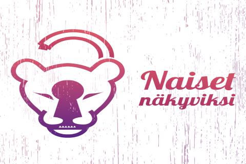 Naiset näkyviksi -hankkeen logo.